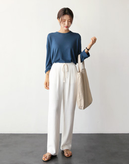 Marble Banding pants (* 2color)