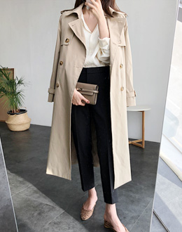 Harp Trench coat (* 2color)