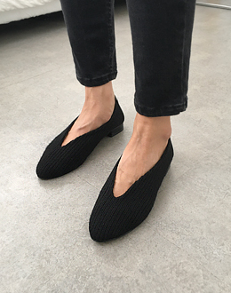 Corrugated Loafers shoes (* 4color) Black 240