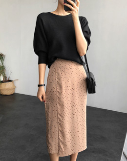 Puff sleeve knit (* 3color)