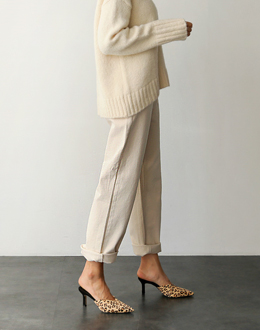 Cream jean pants