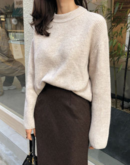 Mochi wool knit (* 3color)
