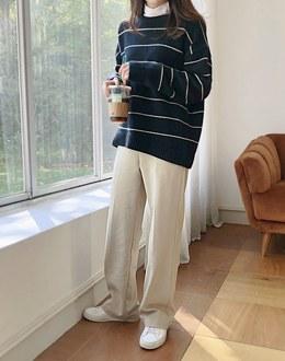 Buckle wool Slacks pants (* 2color)