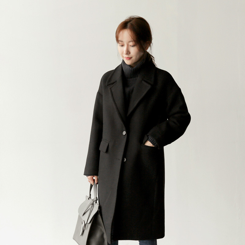 Grain Wool coat (* 5color) Wine
