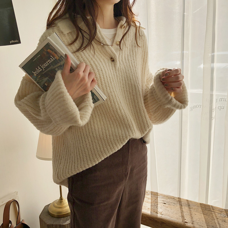 Button Kara knit (* 2color) Ivory