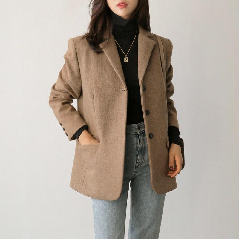 Wool button jk (* 2color)