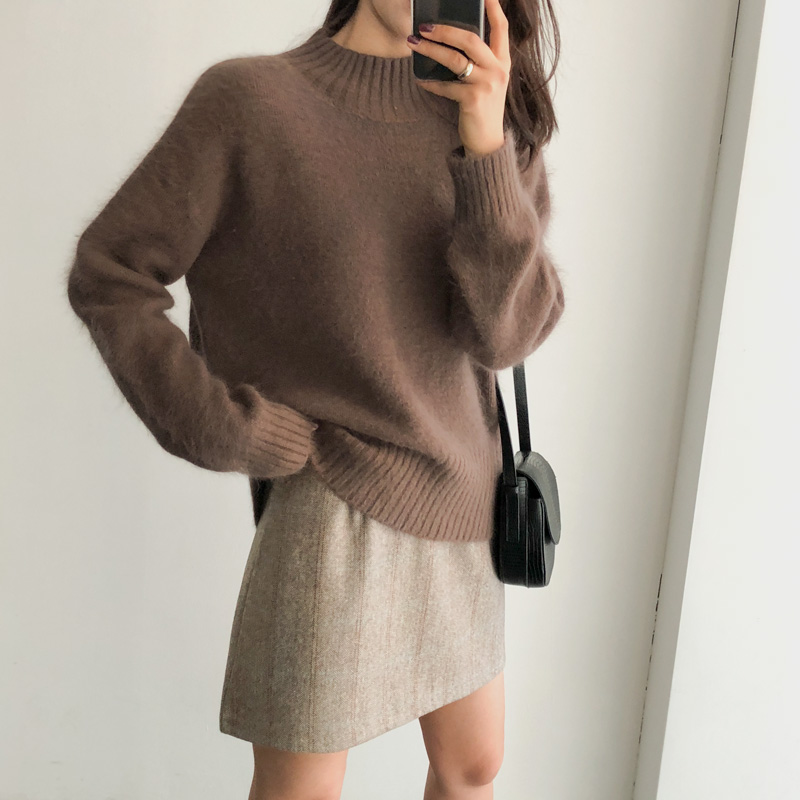 Loa Angora knit (* 4color)