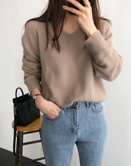 Wool angora knit (* 5color)