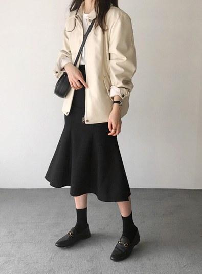 Leather Jackets jk (* 2color) Ivory