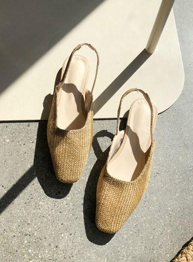 Ratan Sling backs shoes (* 2color)