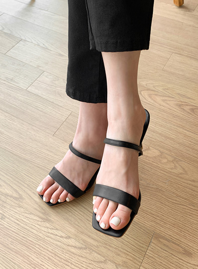 Strap sandal heel shoes (* 4color)