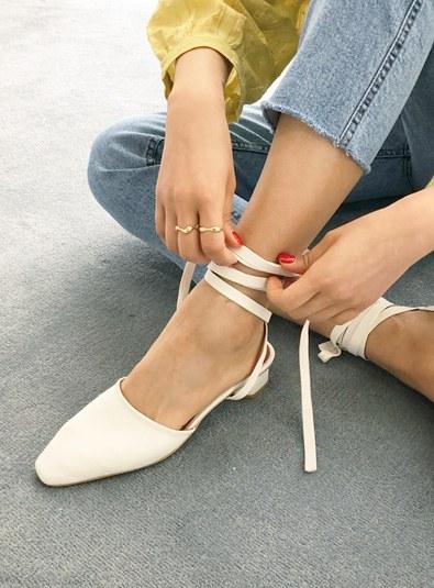Strap Flat shoes (* 3color)