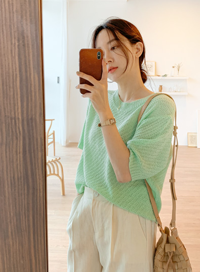 Pokin pastel knit (* 4color)