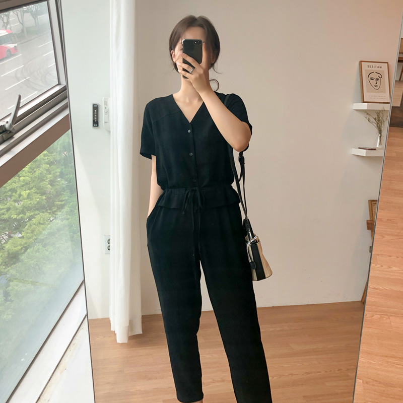 Linen Jump Suit (* 2color)