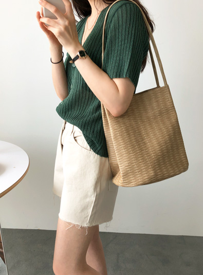 Waffle shoulder bag (* 2color)