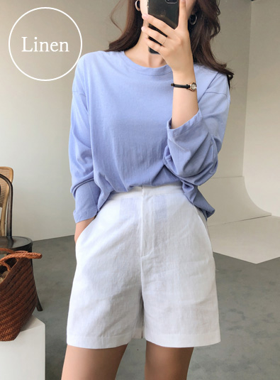 Linen modern banding pants (* 3color)