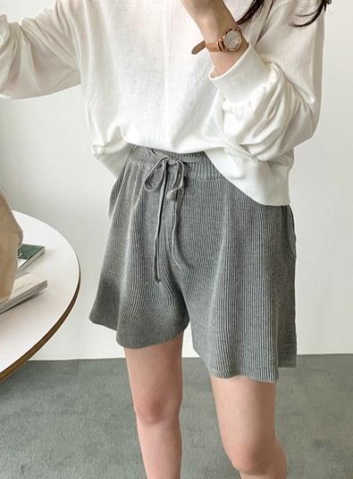 Short Knit pants (* 2color)