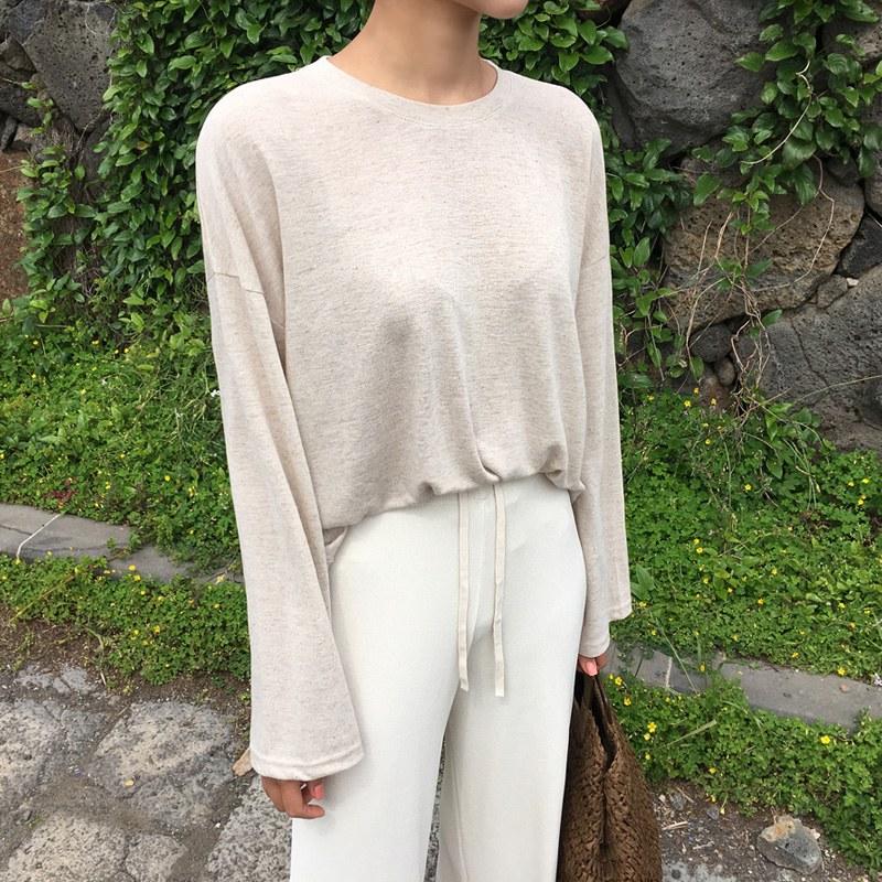 Plain linen t (* 5color)