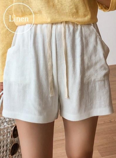 Linen-free pants (* 3color)