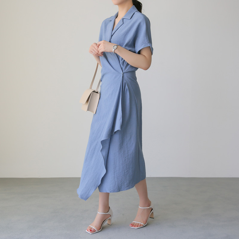 Linen Unbalanced ops (* 4color) conch