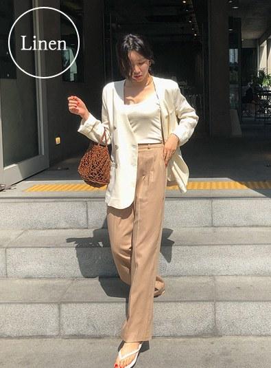 Linen Noa pants (* 3color)