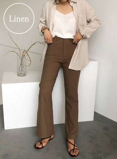 Topnuts Linen pants (* 2color) Browns