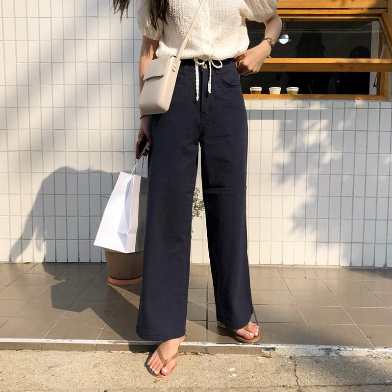 Tentia pants (* 4color) [Navy SM ships same day ♥]