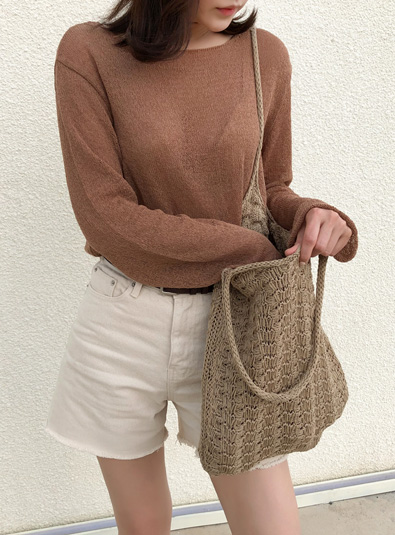 Maid knit bag (* 4color)