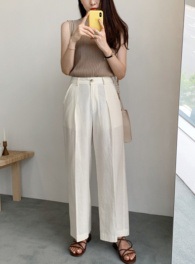 Virgin wide pants (* 2color) Ivorym