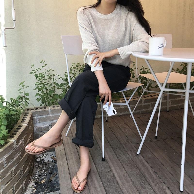Cotton wide pants (* 3color)