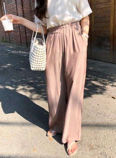 Sandy Silk pants (* 3color) Cream