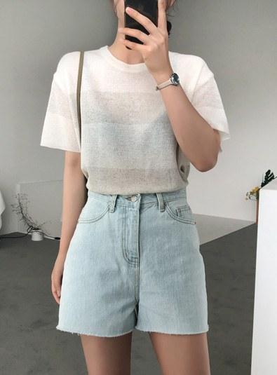 Cut short pants