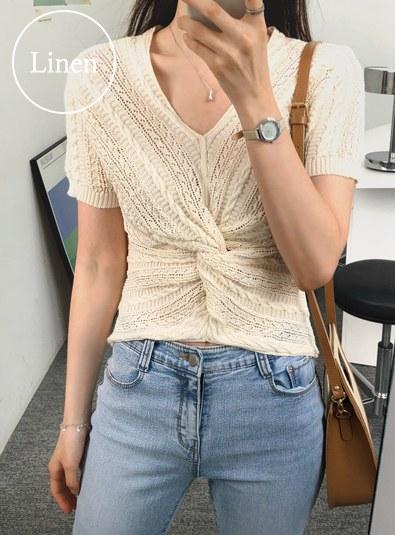 Linen Twiddle knit