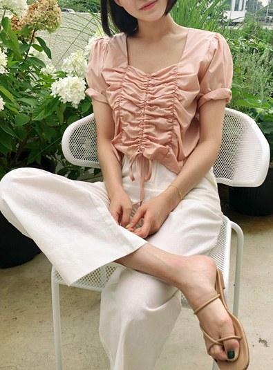 Shirring wrinkle bl (* 3color) Pink