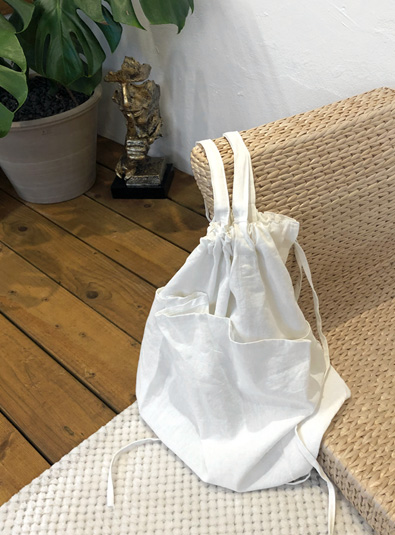 Cotton pocket bag (* 2color)