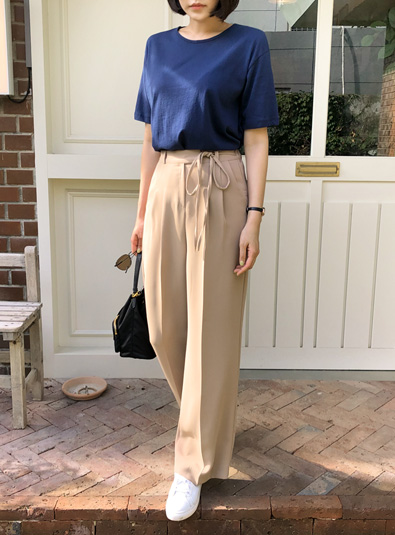 String knot pants (* 3color)