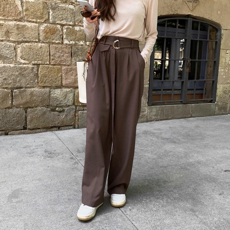 Huckle belt pocket pants (* 2color)