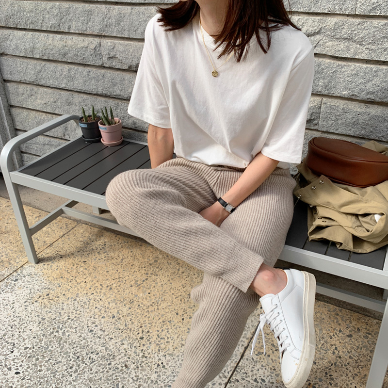 [made by] Knit Jogger pants (* 4color) [Oatmeal Beige ships same day ♥]