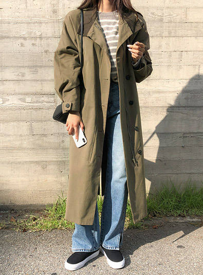 Trench head coat (* 2color)
