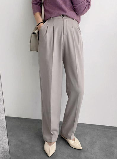 Pin tuck off pants (* 3color)