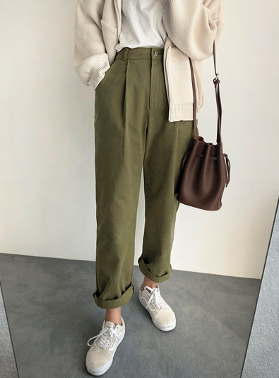 Rich Pin Tuck pants (* 3color)