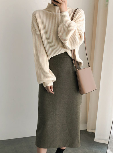 [Quanku Knittem] Mostee knit (* 3color)