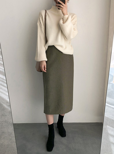 [Wool wool 50] plan back band sk (* 2color)