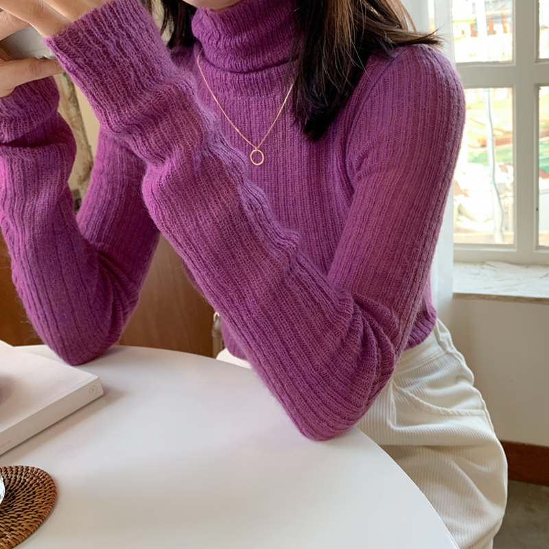 Heart Kung Color ♥ [Wool wool 15] Wendy Turtleneck knit (* 9color)