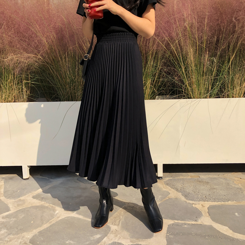 Thicker Winter Skirt ♥-Pleats Wool sk (* 5color)