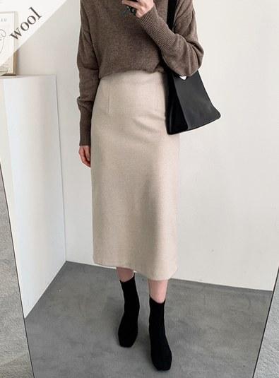 [Winter Skirt ♥] [Wool wool 30] Wool back skating sk (* 3color)