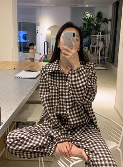[Winter Pajamas] Check-in Pajamas set (* 3color)