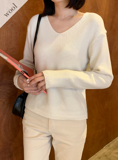 Wool wool 70-Cashmere knit (* 4color)