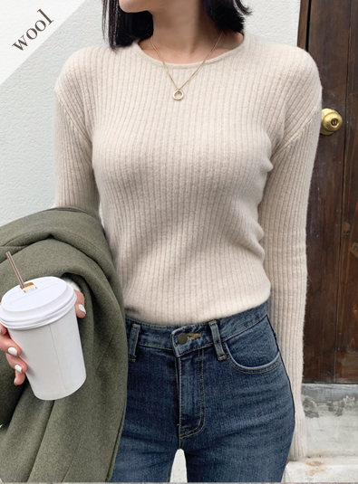 Wool wool 60-Hazellet knit (* 5color)