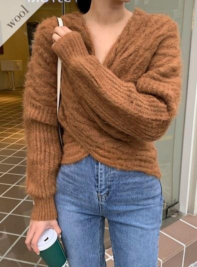 Wool wool 40-Bonide knit (* 4color)